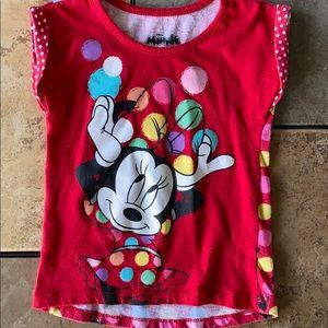 Disney Minnie Mouse Cuffed Sleeve Top